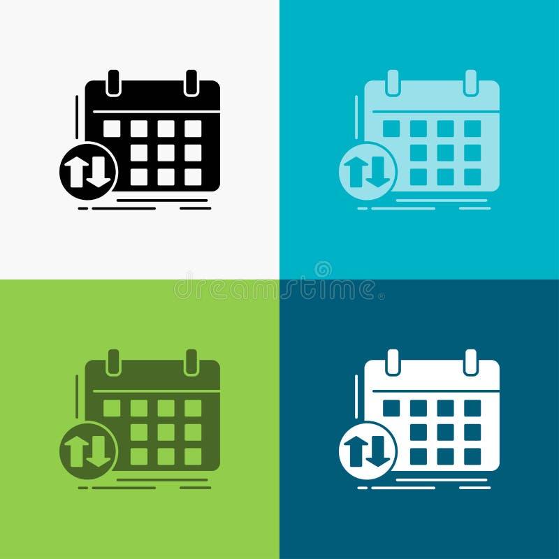 rozkład, klasy, rozkład zajęć, spotkanie, wydarzenie ikona Nad Różnorodnym tłem glifu stylu projekt, projektuj?cy dla sieci i app ilustracji