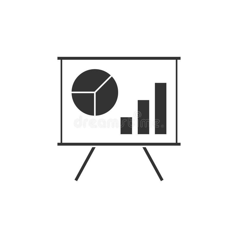 Rozkład na whiteboard ikonie ilustracji