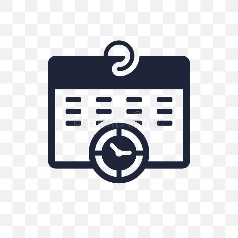 Rozkład przejrzysta ikona Rozkładu symbolu projekt od czasu mana royalty ilustracja