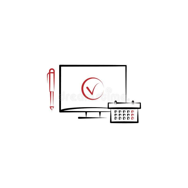 rozkład zajęć 2 barwiąca kreskowa ikona Prosta barwiona element ilustracja rozkład zajęć konturu symbolu projekt od edecutaion se ilustracji