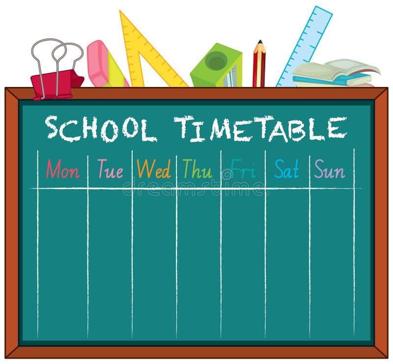 Rozkład zajęć szkolny planowanie z charakterami ilustracji