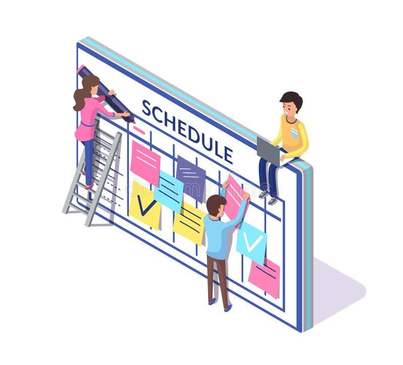 Rozkładu planowanie, ludzie Tworzyć rozkład zajęć ilustracji