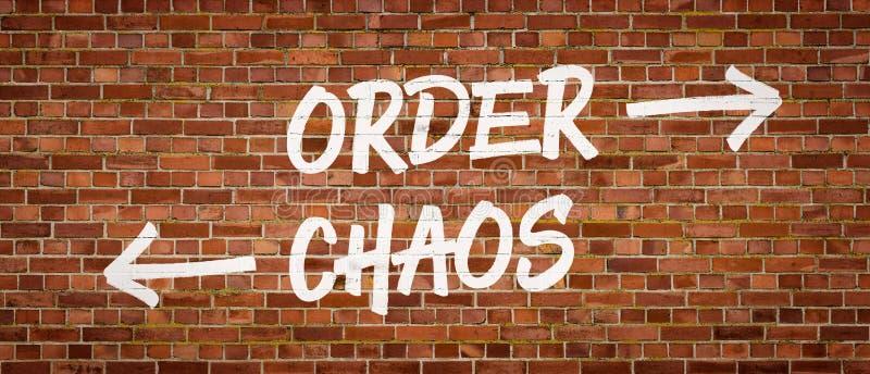 Rozkaz lub chaos zdjęcie royalty free
