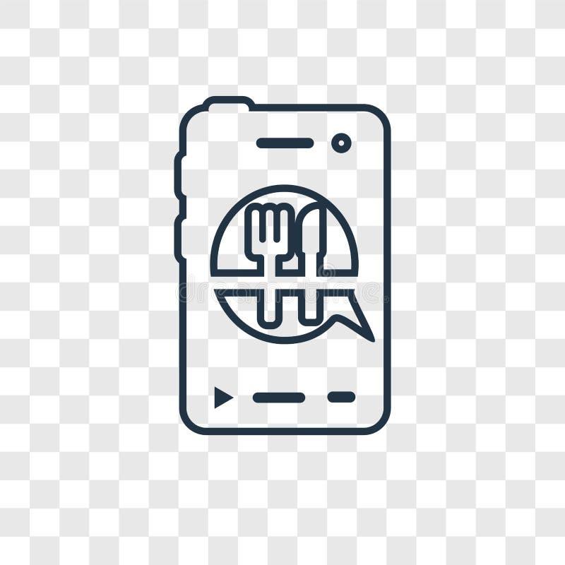 Rozkazuje pojęcie wektorowa liniowa ikona odizolowywająca na przejrzystym plecy ilustracji