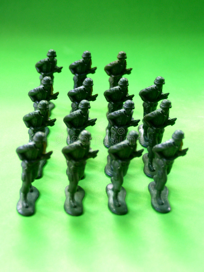 rozkazy 5 żołnierzy. obrazy royalty free