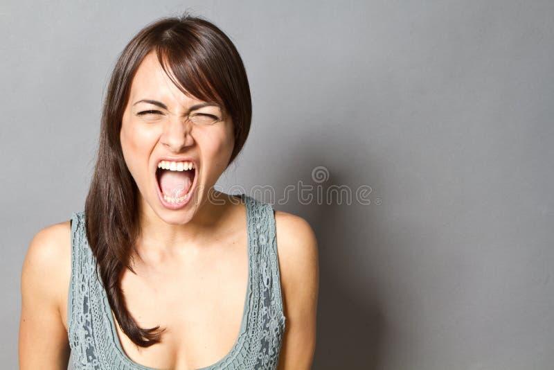 Rozkrzyczana kobieta zdjęcia stock