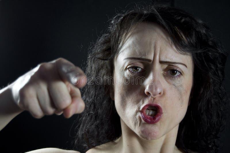 Download Rozkrzyczana kobieta zdjęcie stock. Obraz złożonej z szalenie - 19120630