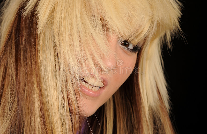 rozkudłana włosiana kobieta fotografia royalty free