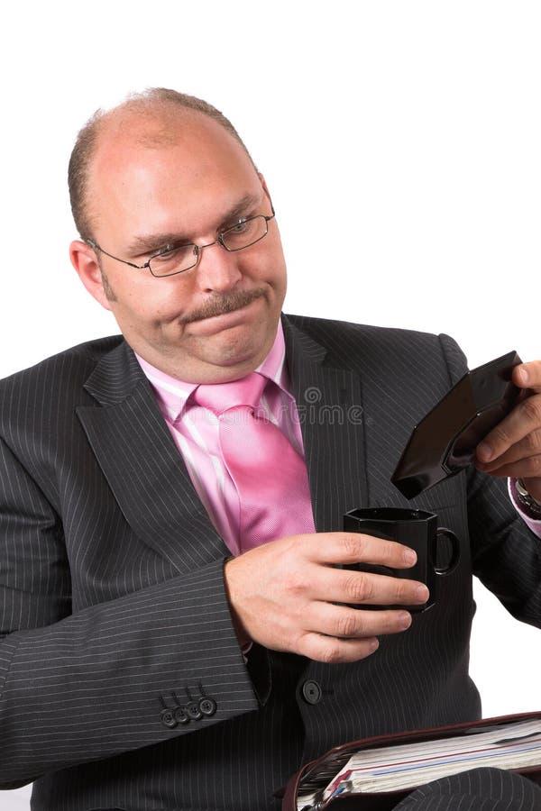 rozlewać kawy zdjęcia stock