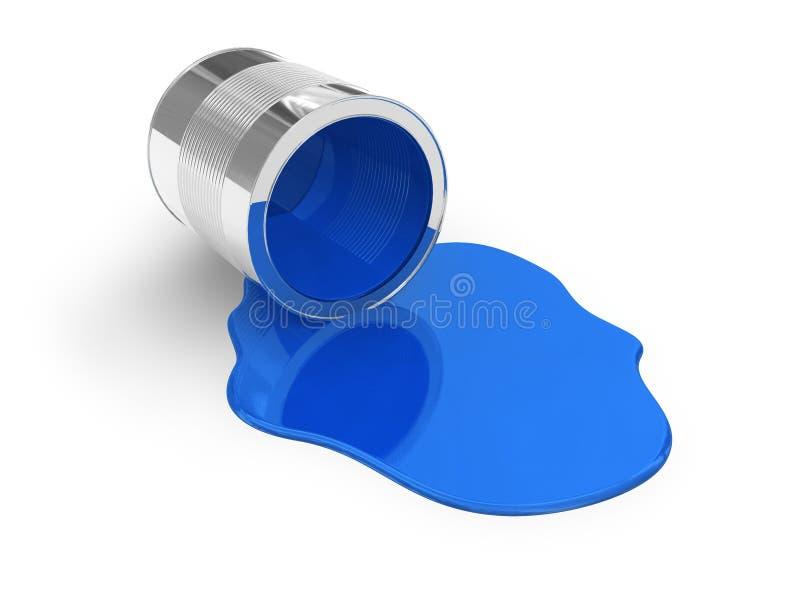 rozlewająca błękitny farba ilustracja wektor