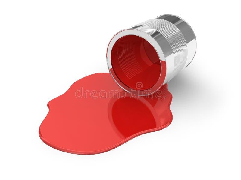 rozlewająca farby czerwień royalty ilustracja