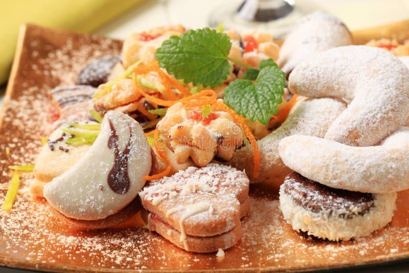 Rozmaitość Bożenarodzeniowi ciastka obraz royalty free
