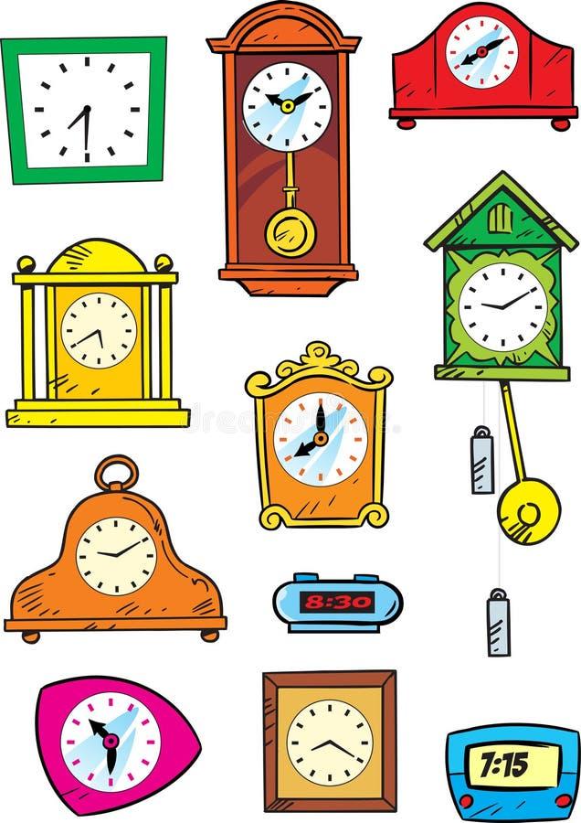 Rozmaitość godziny royalty ilustracja