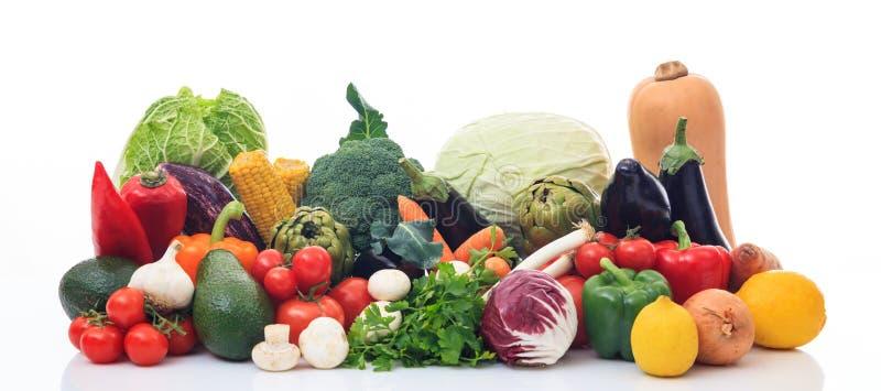Rozmaitość warzywa na białym tle obrazy stock