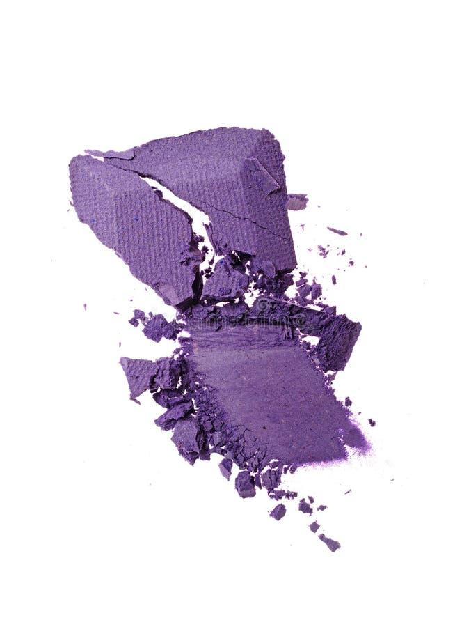 Rozmaz zdruzgotany purpurowy eyeshadow jak próbkę kosmetyczny produkt obraz royalty free