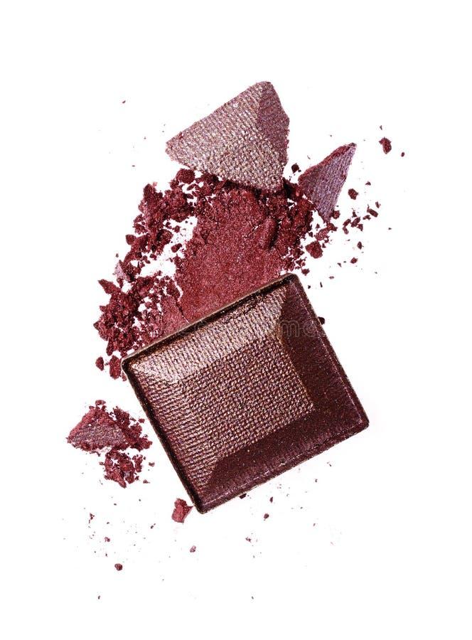 Rozmaz zdruzgotany purpurowy eyeshadow jak próbkę kosmetyczny produkt zdjęcie royalty free