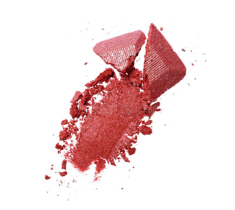 Rozmaz zdruzgotany purpurowy oko cień jak próbkę kosmetyczny produkt zdjęcie royalty free