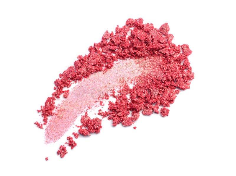 Rozmaz zdruzgotany różowy eyeshadow zdjęcie stock