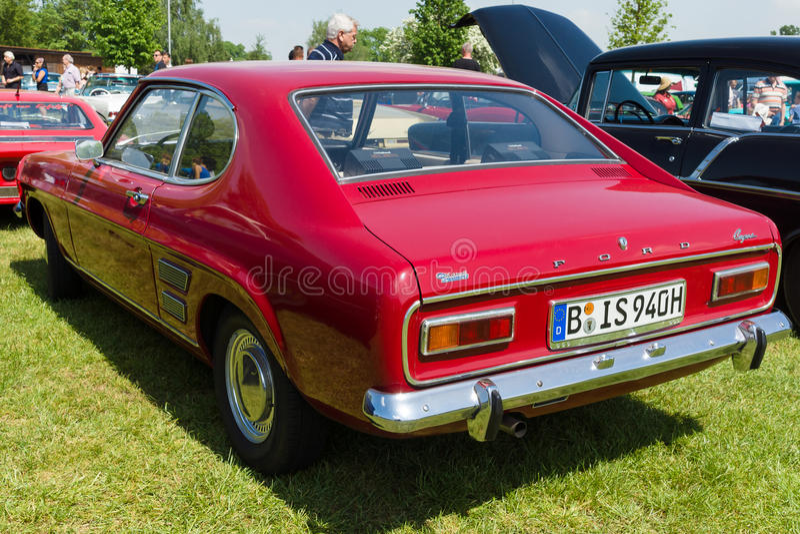 Rozmiarów sportów samochód Ford Capri 1600 Mark 1 fotografia stock