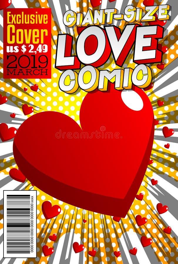 rozmiar miłości komiksu pokrywa ilustracji