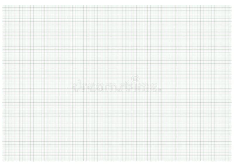 A3 rozmiaru wykresu papieru zieleń zdjęcie stock