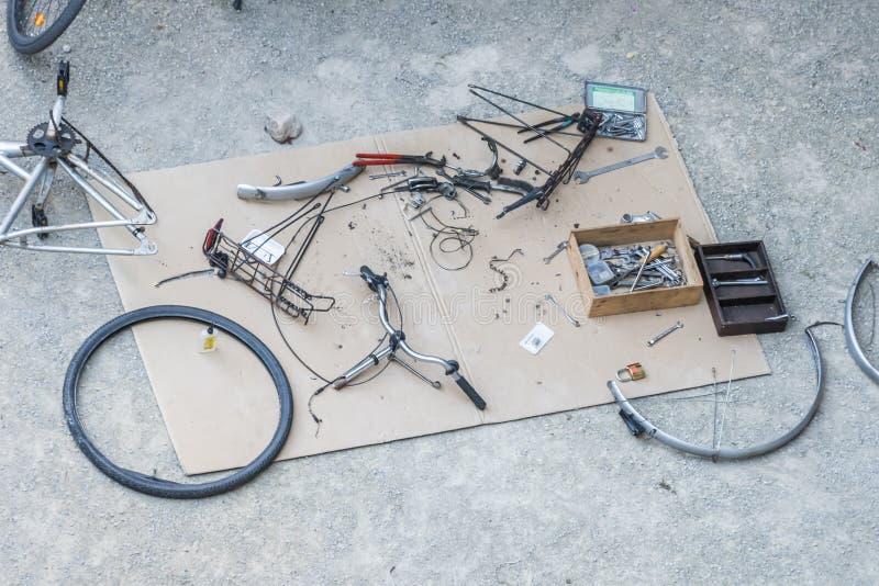 Rozmontowywający bicykl zdjęcie royalty free
