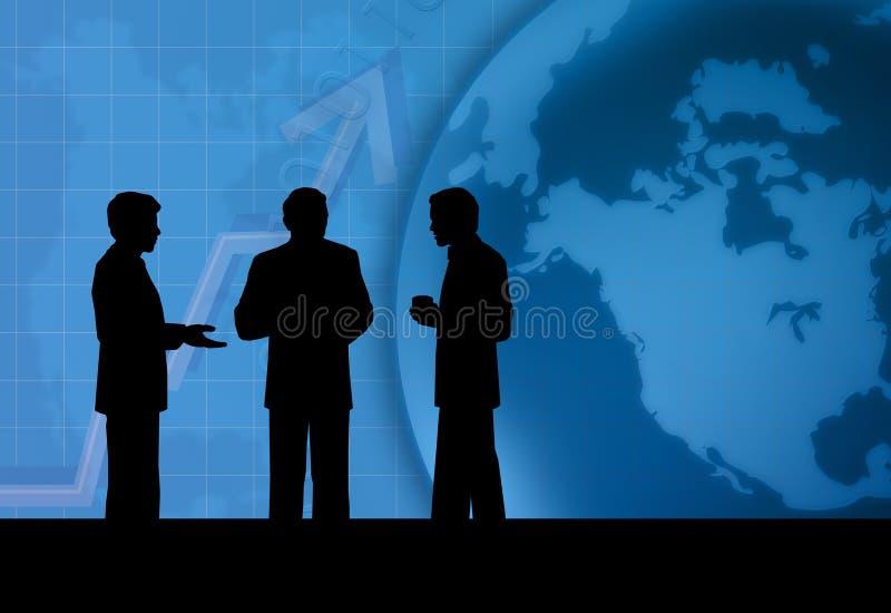 rozmowa jednostek gospodarczych ilustracja wektor