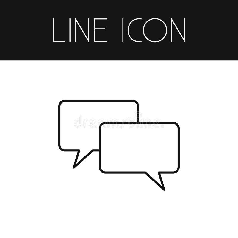 Rozmowa kontur Gawędzenie Wektorowy element Może Używać Dla rozmowy, gawędzenie, wiadomość projekta pojęcie ilustracja wektor