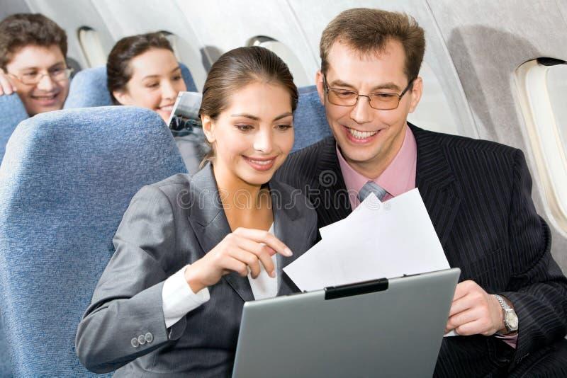 rozmowa samolot zdjęcia stock