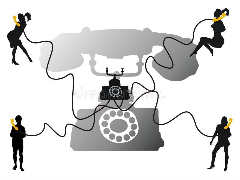 rozmowa telefon ilustracji