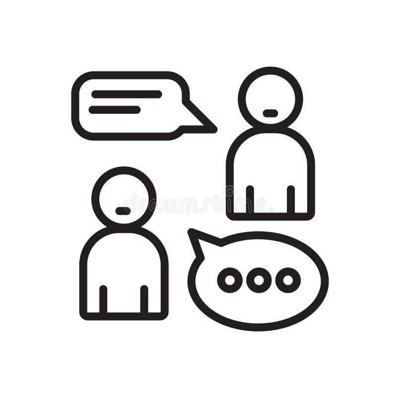 Rozmowy ikony wektor odizolowywający na białym tle, rozmowa znak ilustracji