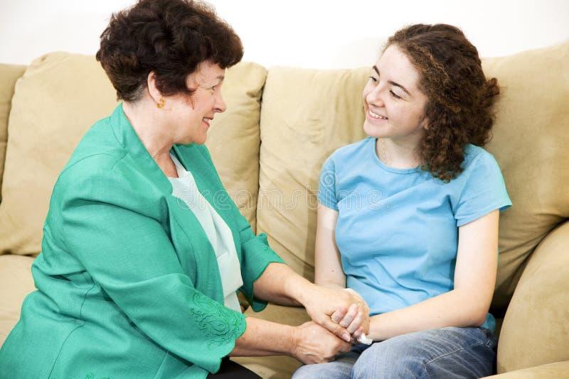 rozmowy nastoletni mateczny zdjęcie royalty free
