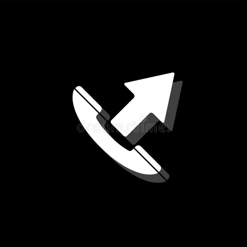 Rozmowy telefoniczej ikony otwarty mieszkanie ilustracji