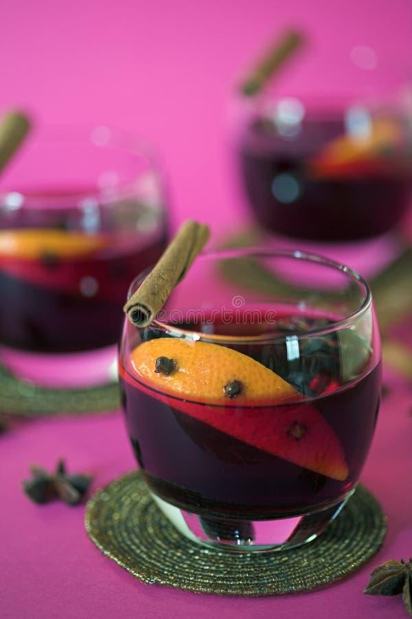 rozmyślający wino obraz stock