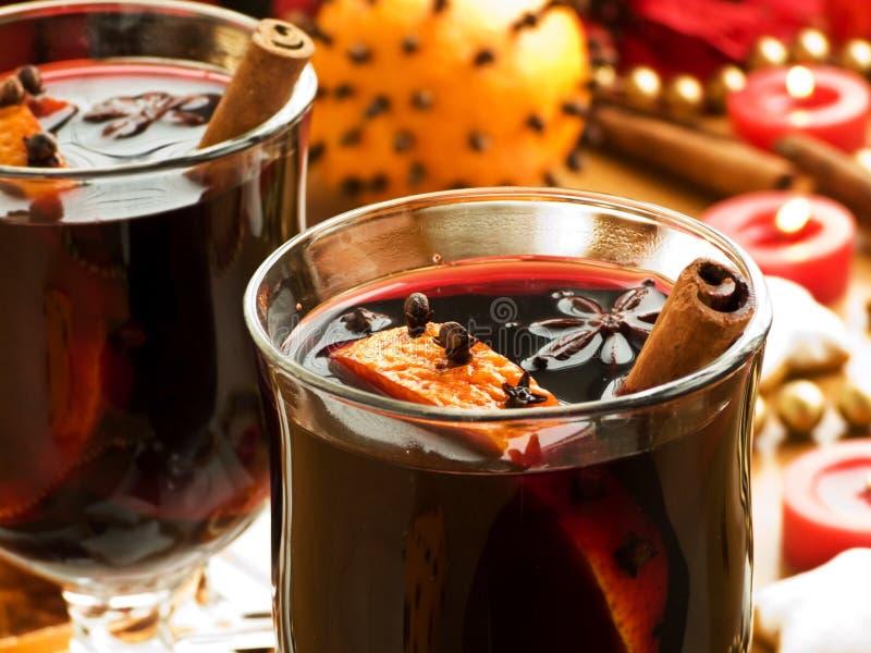 rozmyślający wino obrazy stock
