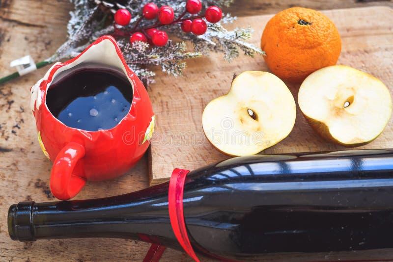 Rozmyślający wino przepisu składniki fotografia royalty free