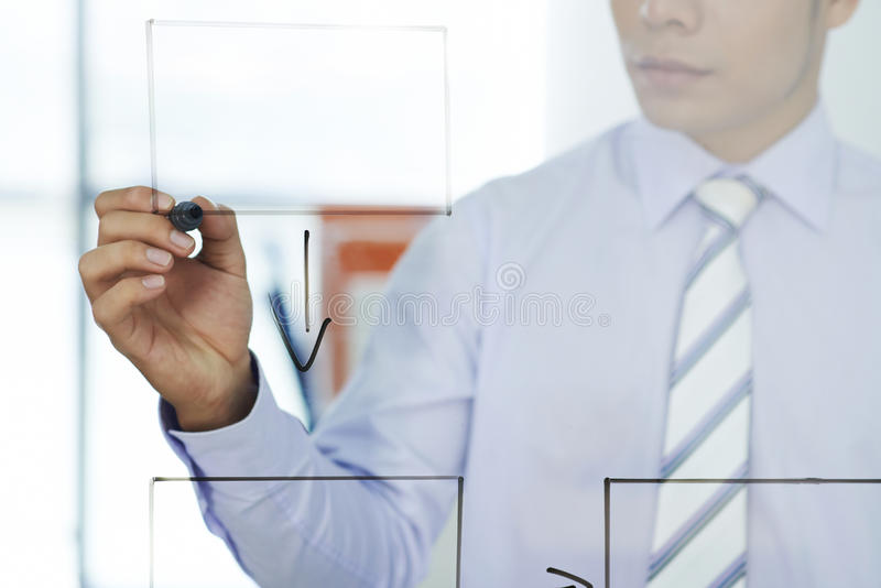 rozmyta biznesowa ostrość inni czerwoni strategii słowa obrazy stock