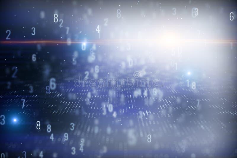 Rozmyty binarnego kodu tło ilustracja wektor