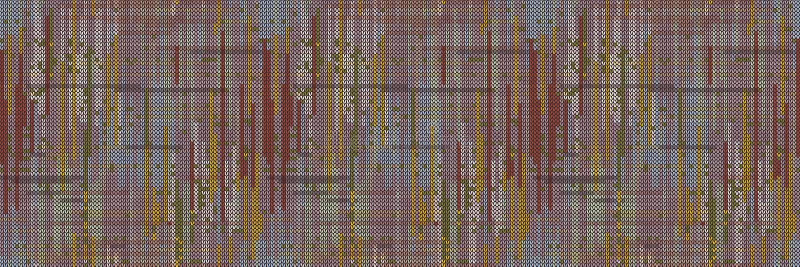 Rozmyty Ikat barwiony tekstura bezszwowy wzorzec obramowania Tło wymieszanego banera z paskiem różowym Krwawienie krawędzi koloró ilustracja wektor