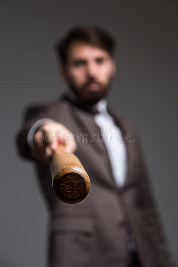 Rozmyty mężczyzna z nietoperzem zdjęcie stock