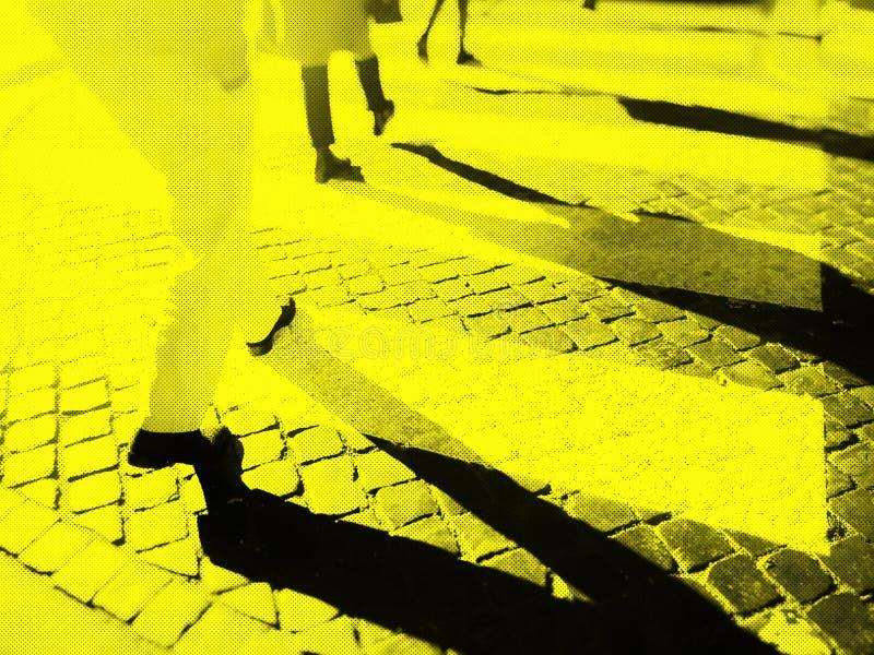Rozmyty miasto zebry skrzyżowanie zdjęcia royalty free