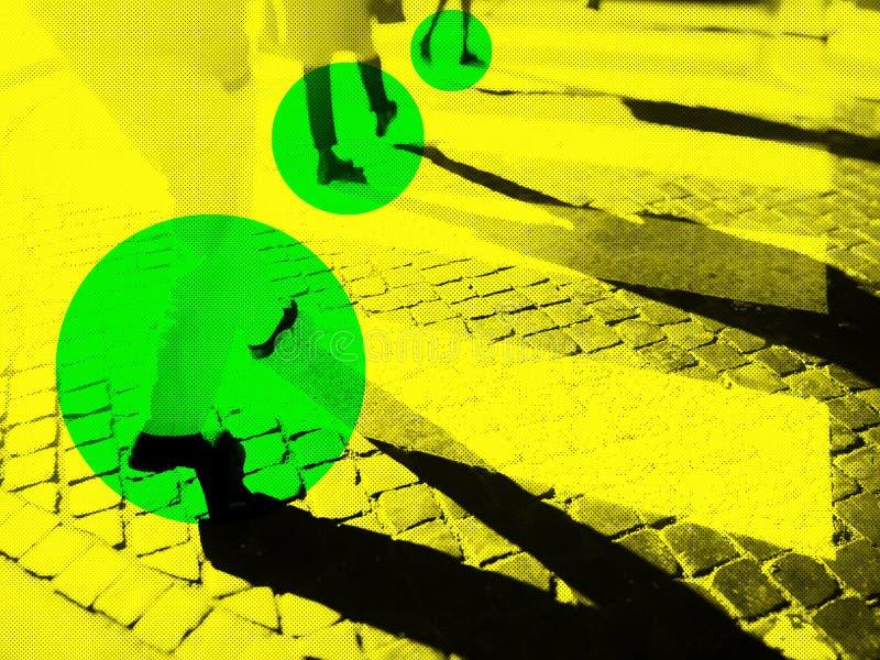 Rozmyty miasto zebry skrzyżowanie obraz stock