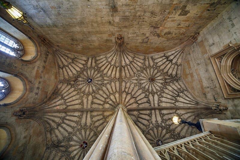 Rozniecony sklepiać sufit Bodley wierza christ kościół ogródu pamiątkowa Oxford uk wojna uniwersytet w oksfordzie england obrazy royalty free