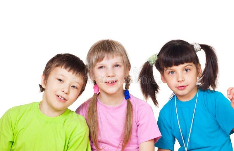 rozochoceni dzieci zdjęcia stock
