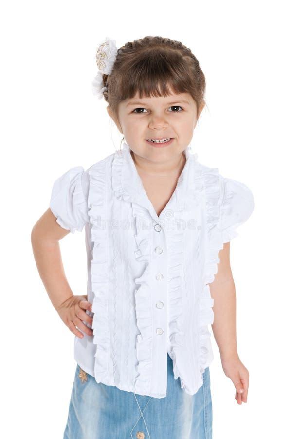 Download Rozochocona ładna Mała Dziewczynka Obraz Stock - Obraz złożonej z odosobniony, śliczny: 41951567