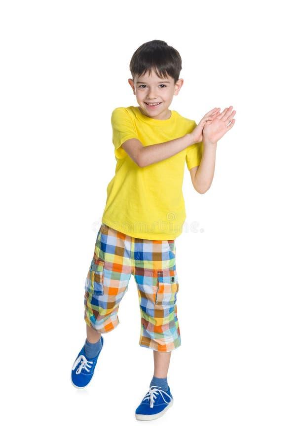 Rozochocona chłopiec obrazy stock