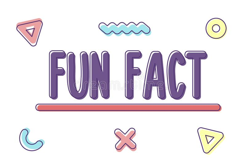 Rozochocona chrzcielnica z słowo zabawy fact modnymi geometrycznymi kształtami i również zwrócić corel ilustracji wektora ilustracja wektor