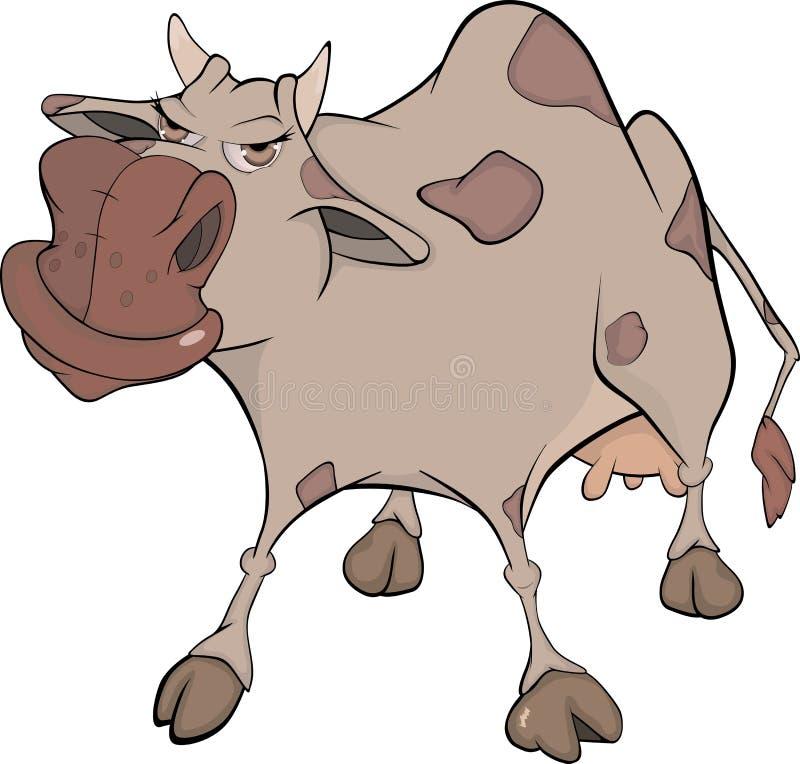 rozochocona kreskówki krowa ilustracja wektor