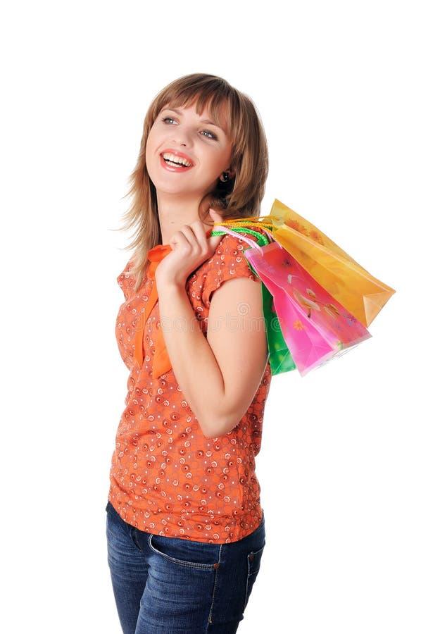 Download Rozochocona Młoda Dziewczyna Obraz Stock - Obraz złożonej z suknia, odosobniony: 13326245