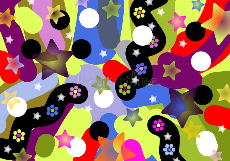 Rozochocona piękna stubarwna abstrakcja ilustracji